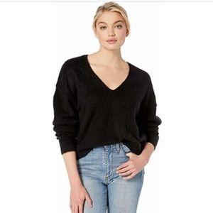 Fuzzy v Neck Sweater